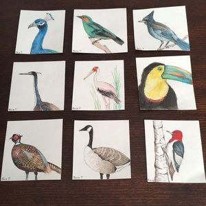 Other - art work, watercolour all 9 cards